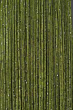 Шторы нити Дождь 1х2м Оливковый с люрексом