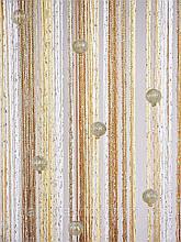 Шторы нити Радуга Дождь 3х3м с ажурными шариками бусинами и люрексом