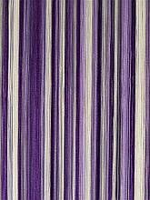 Шторы нити кисея Радуга 3х3м Белый Сиреневый Фиолетовый без люрекса