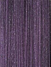 Шторы нити кисея Радуга Дождь Люкс 3х3м Сливовый с люрексом