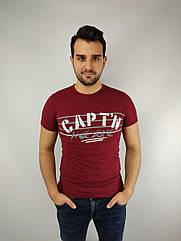 Мужская футболка норма,  46-52рр, CAPT^N, бордовый