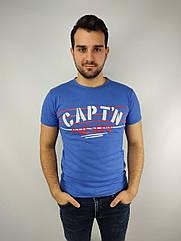 Мужская футболка норма,  46-52рр, CAPT^N, синий