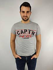 Мужская футболка норма,  46-52рр, CAPT^N, серый
