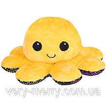 """Мягкая игрушка-перевертыш FANCY """"Осьминожка"""" желтая, 10 см"""