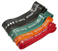 Эспандер-петля резина для фитнеса и спорта SportVida Power Band 4 шт 12-46 кг SV-HK0190-4, КОД: 2407272