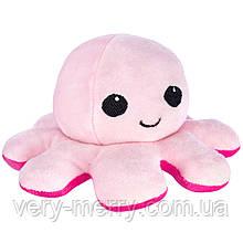 """Мягкая игрушка-перевертыш FANCY """"Осьминожка"""" розовая, 10 см"""