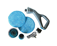 Беспроводная щётка для уборки Hurricane Muscle Scrubber HDB с 3 насадки