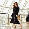 Платье с оборками с поясом черный