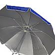Большой зонт с клапаном , Серебряное напыление, защита от УФ лучей. Диаметром  2.50 м, фото 4