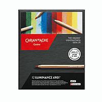 Набор перманентных Карандашей Caran d'Ache Luminance 6901 Картонный бокс, 12 цветов, фото 1