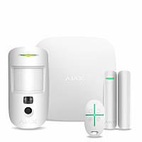 Комплект охранной сигнализации Ajax StarterKit Cam Plus White