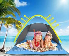 Автоматична намет для кемпінгу і пляжу 200*165*130 швидке відкриття уф захист 2 кольори, фото 2