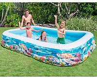 Бассейны интекс Большой надувной бассейн для всей семьи синий Intex 58485, 305 x 183 x 56см см