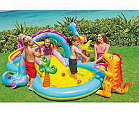 Надувной игровой центр Intex 57135 Планета динозавров Бассейны детские надувные Надувной бассейн для детей