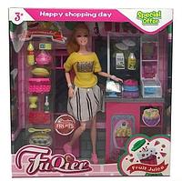 """Кукла JX 300-41 """"Кондитерская"""", стойка, продукты, аксессуары, в коробке"""
