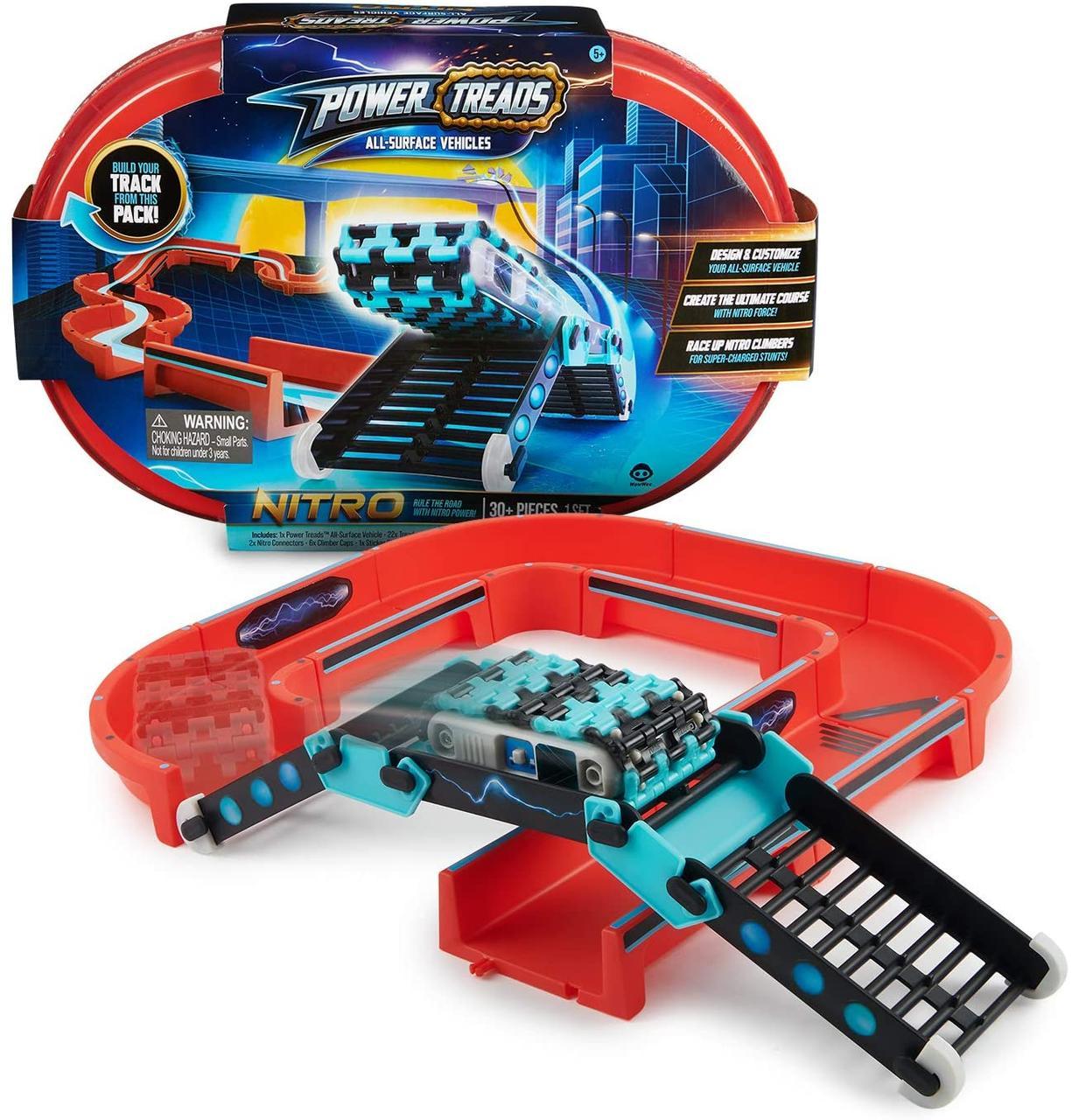 Ігровий набір Трек і Всюдихід WowWee Power Treads - Nitro Stunt Pack оригінал США