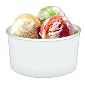 Стакан-пиала для мороженого 120 мл. 50 шт/уп. бумажный, белый
