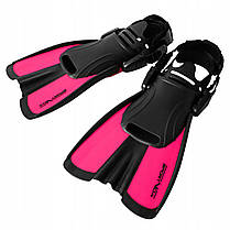 Ласти SportVida SV-DN0008JR-S Size 29-33 Black/Pink, фото 2