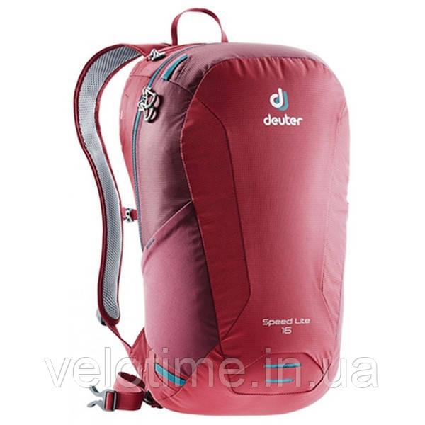 Рюкзак Deuter Speed Lite 16 с поясным ремнем (cranberry-maron )