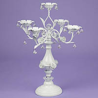 Подсвечник 50 см. на 5 свечей с кристаллами (2011-008)