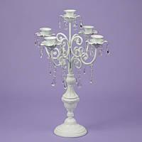 Подсвечник 57 см. на 5 свечей с кристаллами (2011-006)