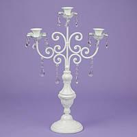 Подсвечник 57 см. на 3 свечи с кристаллами (2011-005)
