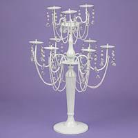 Подсвечник 60 см. на 9 свечей с подвесками (2шт.) (2011-002)