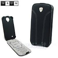 Brum Premium Кожаный чехол для Samsung Galaxy S4 i9500 (No.31 black), фото 1