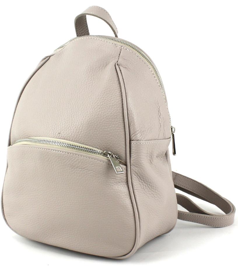 Жіночий шкіряний рюкзак Borsacomoda світло сірий 9 л 814.019