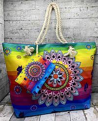 Літня сумка в етно стилі. Колір: веселка