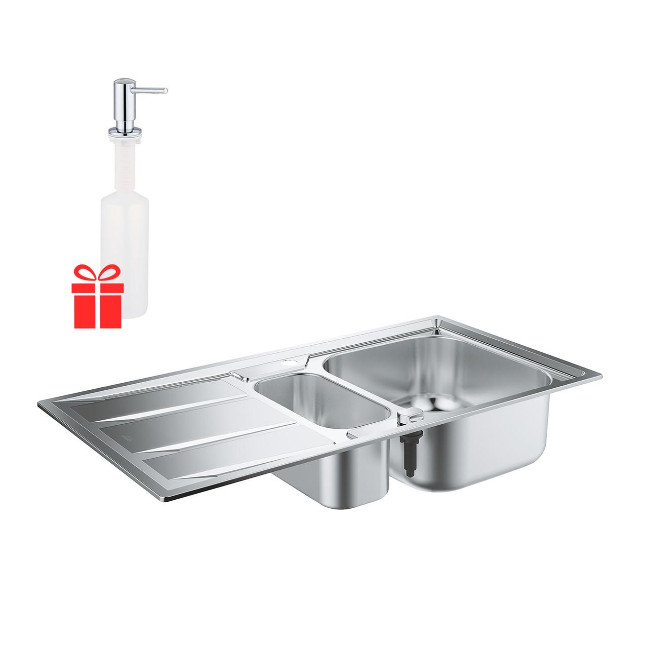 Набор Grohe мойка кухонная K400 31567SD0 + дозатор для моющего средства Contemporary 40536000