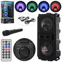 Портативная колонка LT-2801XBT, Bluetooth, микрофон, 33,5×71×31см,