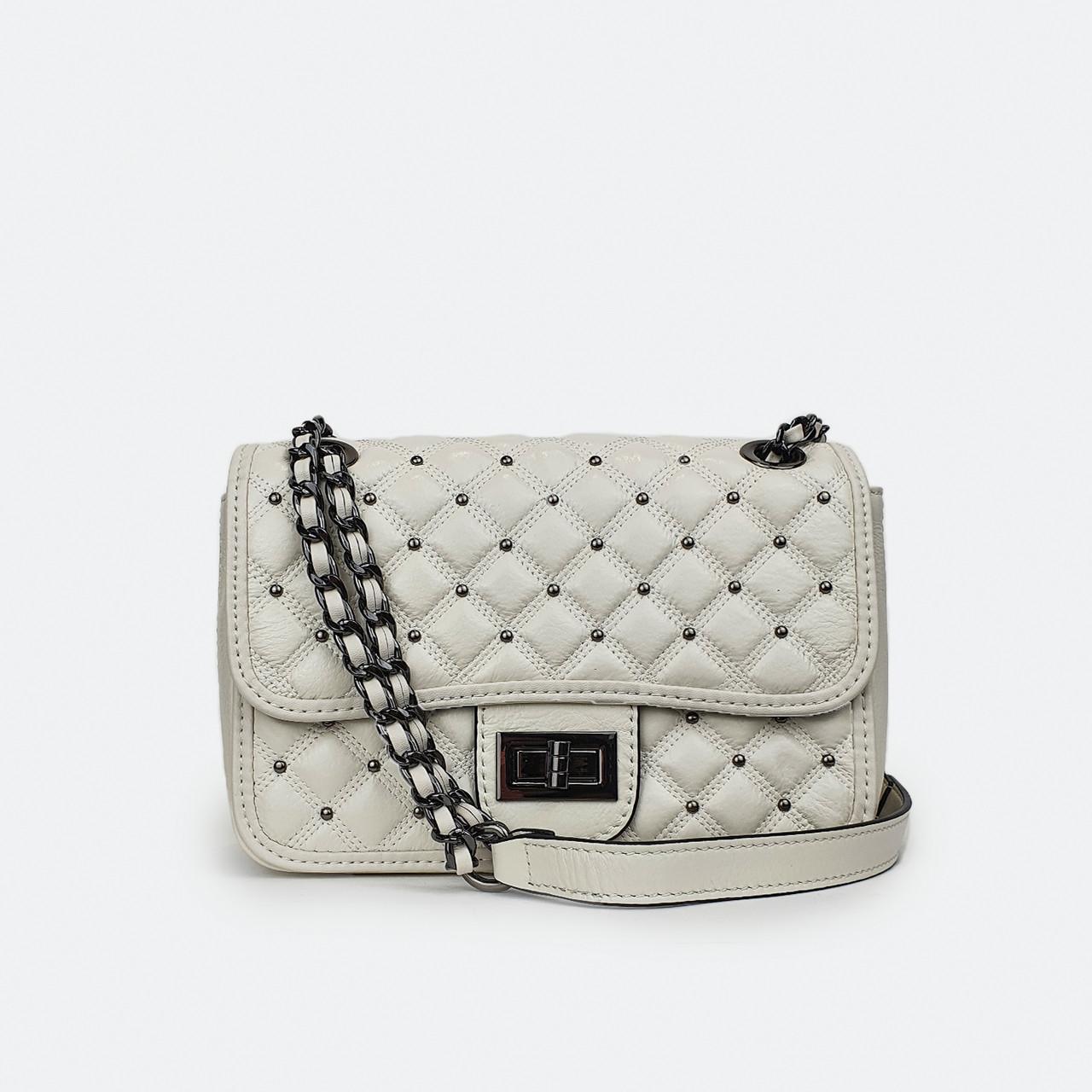 Модна жіноча сумка білі шкіряні маленька Fashion 3017-1