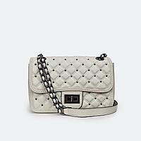 Модна жіноча сумка білі шкіряні маленька Fashion 3017-1, фото 1