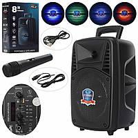 Колонка портативная PK-07 Bluetooth, микрофон, свет.