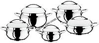 Набор кухонной посуды O.M.S. Collection 1008-S Silver  10 пр