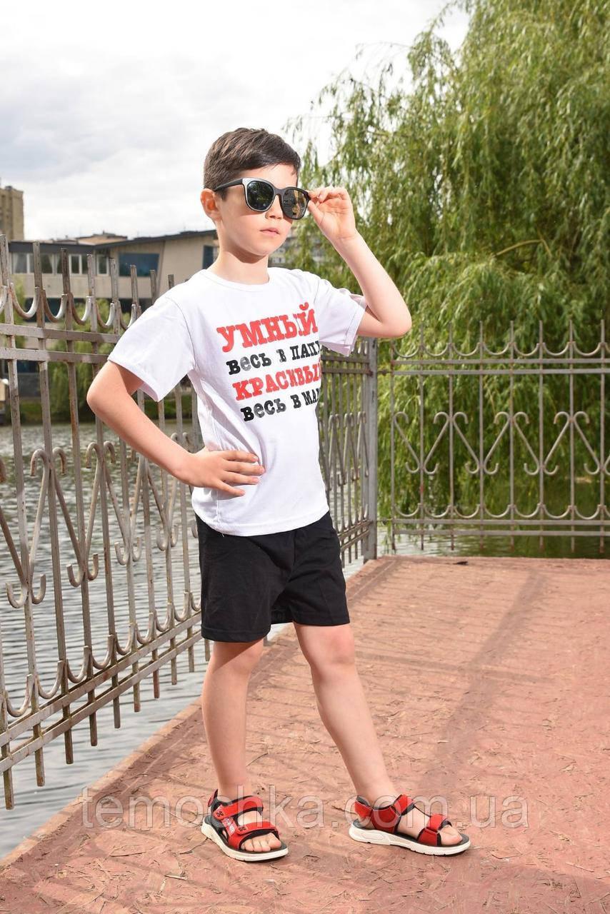Літній комплект набір для хлопчика футболка і шорти