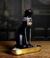 Статуэтка Сфинкс. Фигурка для интерьера Египетский кот 16*20 см. Декор черный египетский Сфинкс