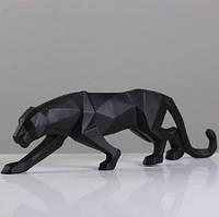 Статуэтка Черная пантера. Фигурка для интерьера Черная пантера 25*4,5*8 см. Декор пантера черного цвета