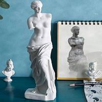 Статуэтка Венера Милосская. Фигурка для интерьера Афродита с острова Милос 9x9x29 см. Декор статуя богини