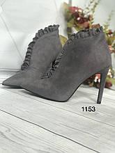 Туфлі жіночі сірі
