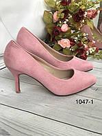 Жіночі туфлі замшеві, фото 1