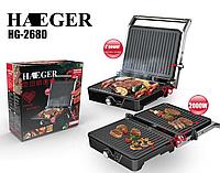 Электрический контактный гриль HAEGER HG-2680, 2000Вт, Электрогриль, Распродажа!