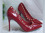 Туфлі жіночі класичні  червоні, фото 5