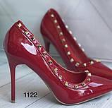 Туфлі жіночі класичні  червоні, фото 6