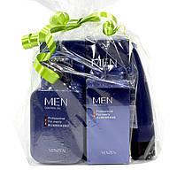 Подарунковий набір чоловічий косметики для догляду Venzen Men 5 в 1 з контролем жирності шкіри обличчя Оригінал