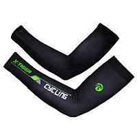 Компрессионные рукава велосипедные X-Тiger XM-DPLT-17002 налокотники Green XXL, фото 1