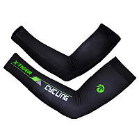Компрессионные рукава велосипедные X-Тiger XM-DPLT-17002 налокотники Green XXL