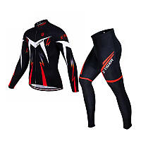 Велокостюм X-Тідег XM-CT-01302 Trousers Red L кофта з довгим рукавом штани, фото 1
