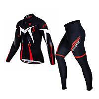 Велокостюм X-Тiger XM-CT-01302 Trousers Red L кофта с длинным рукавом штаны, фото 1